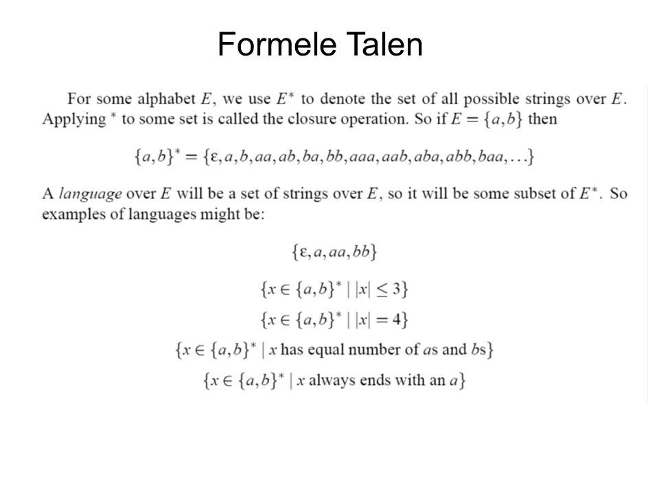 Formele Talen