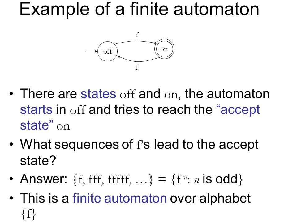 Example of a finite automaton