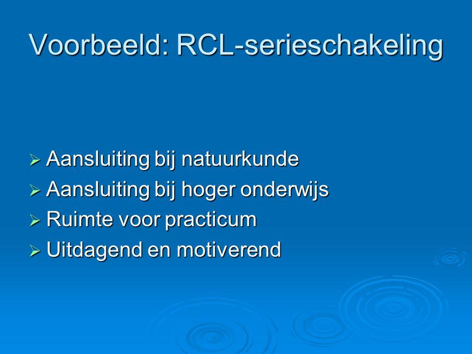 Voorbeeld: RCL-serieschakeling