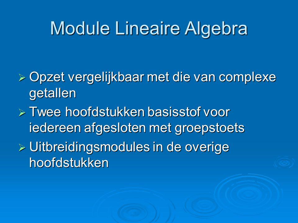 Module Lineaire Algebra