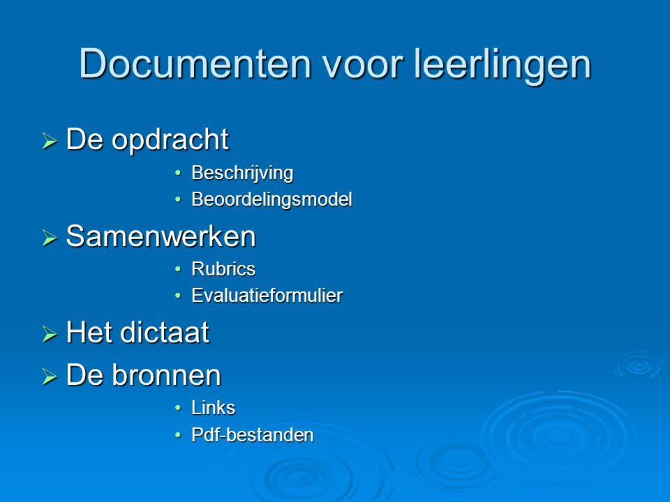 Documenten voor leerlingen