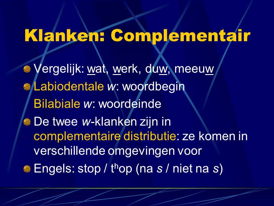 Klanken: Complementair