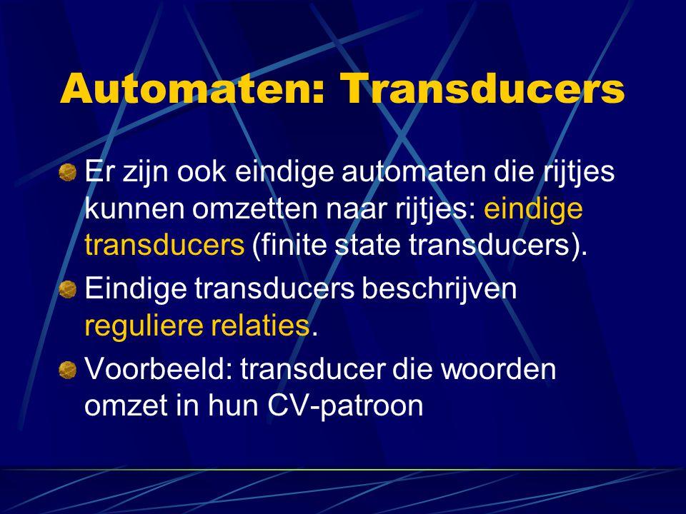 Automaten: Transducers