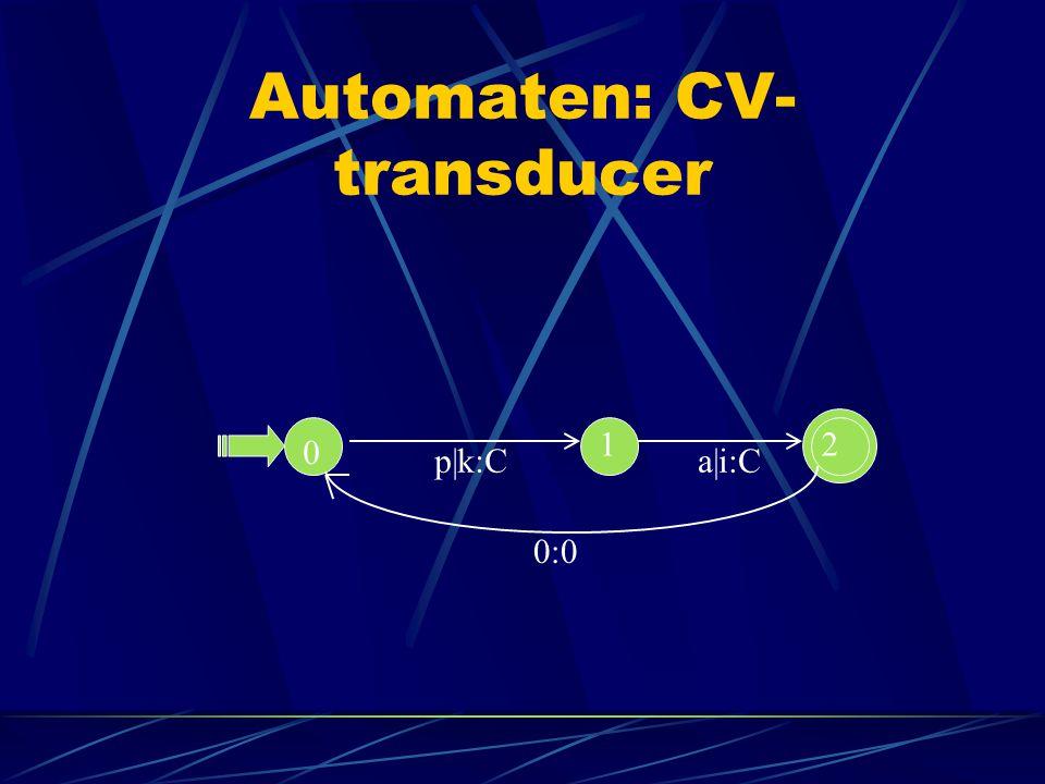 Automaten: CV-transducer