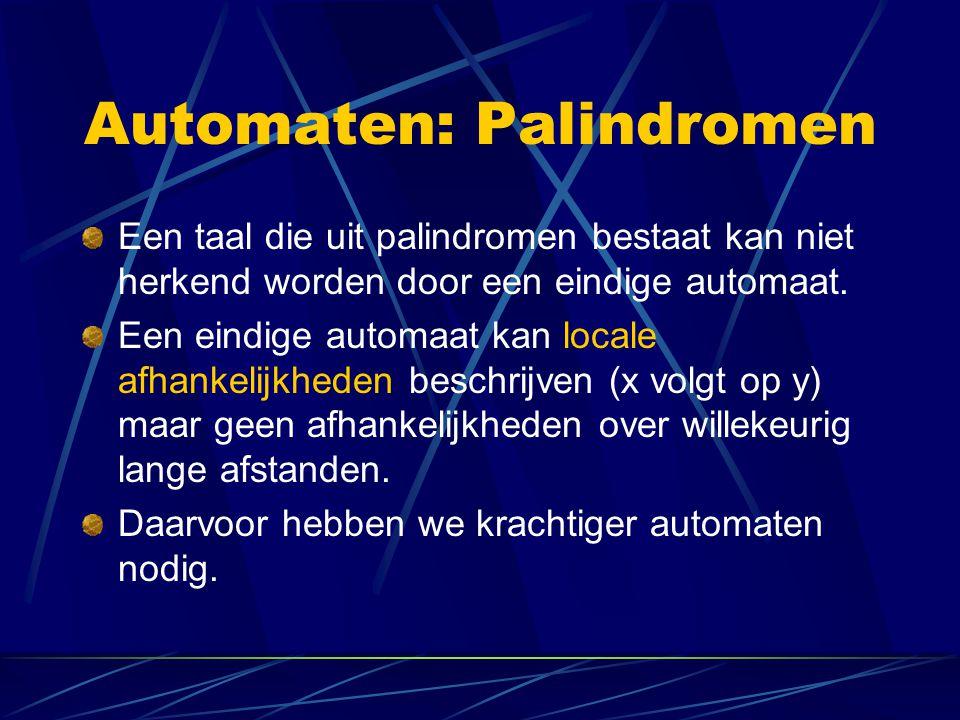 Automaten: Palindromen