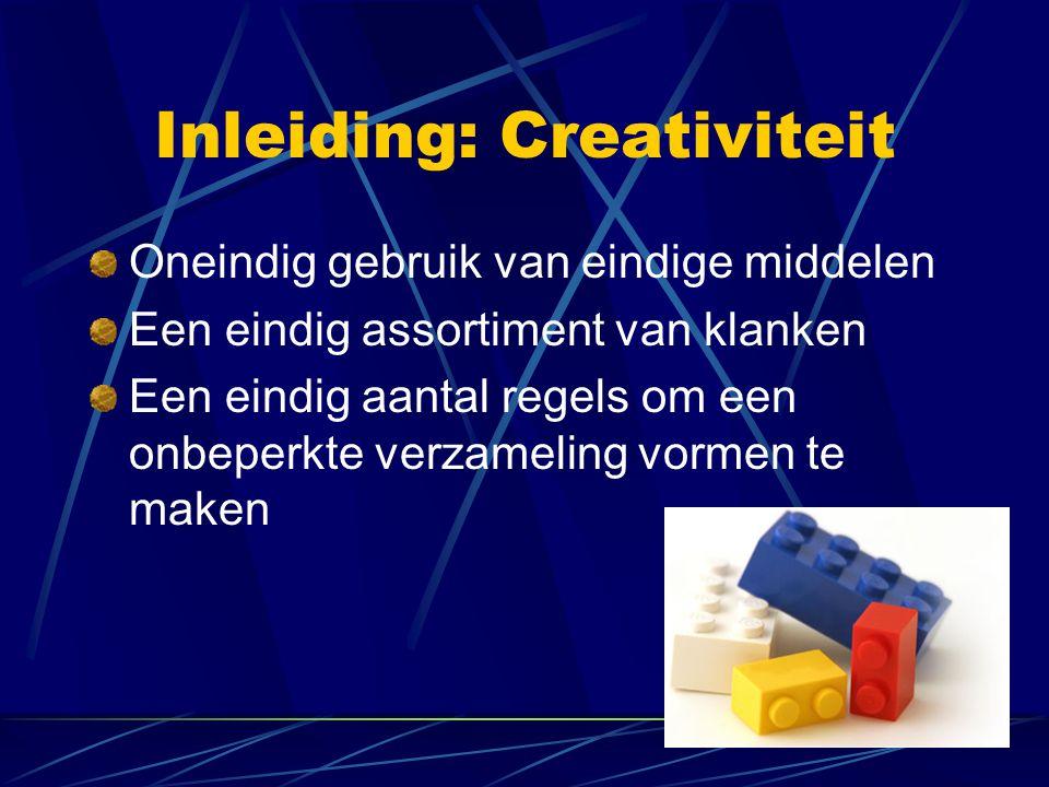Inleiding: Creativiteit