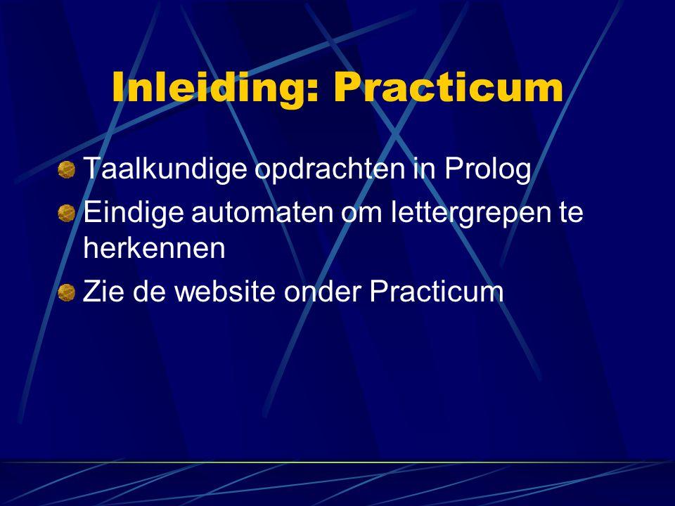 Inleiding: Practicum Taalkundige opdrachten in Prolog
