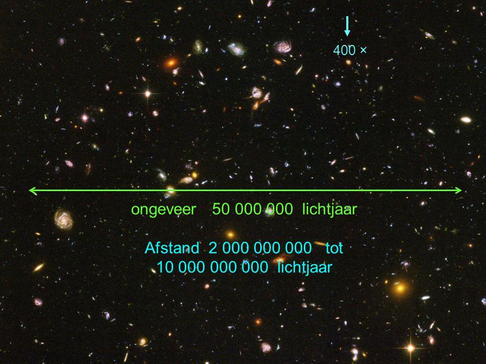 ongeveer 50 000 000 lichtjaar Afstand 2 000 000 000 tot