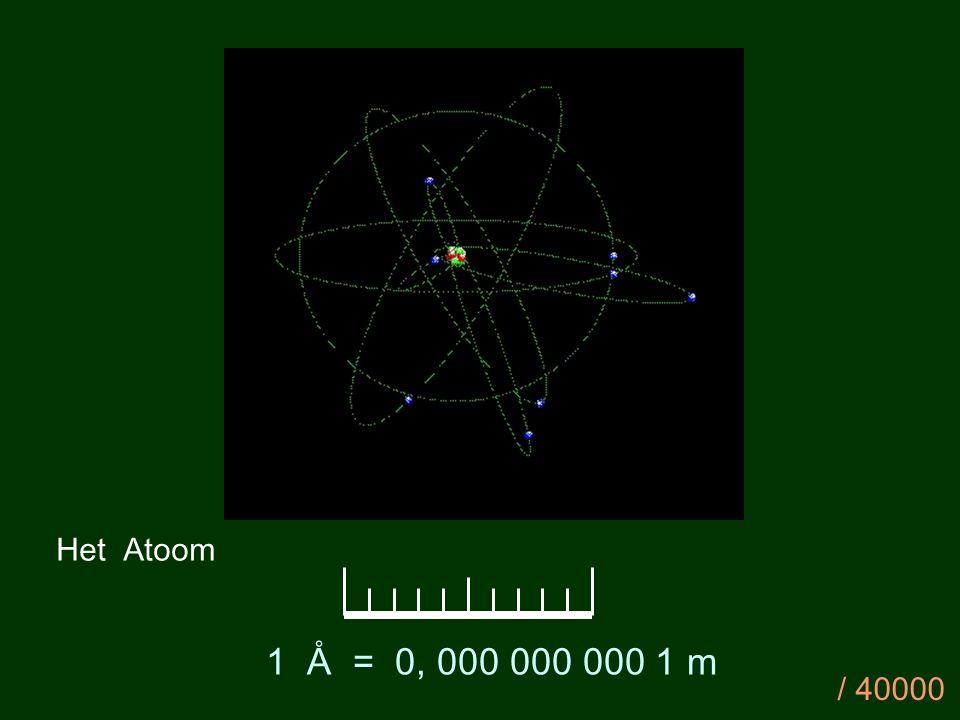 Het Atoom 1 Å = 0, 000 000 000 1 m / 40000