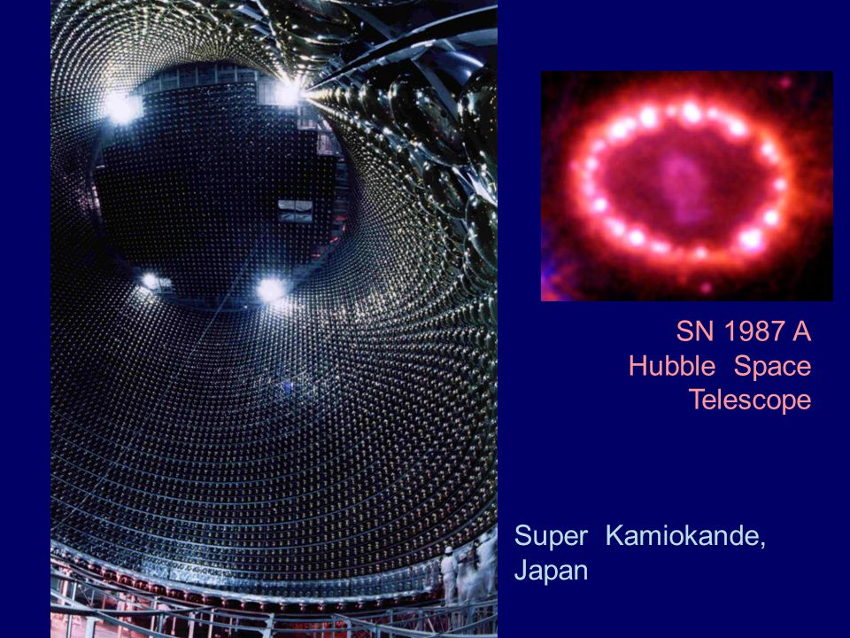 SN 1987 A Hubble Space Telescope Super Kamiokande, Japan