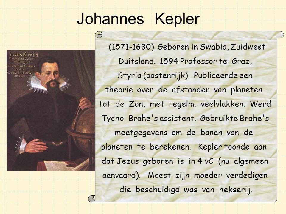 Johannes Kepler (1571-1630) Geboren in Swabia, Zuidwest