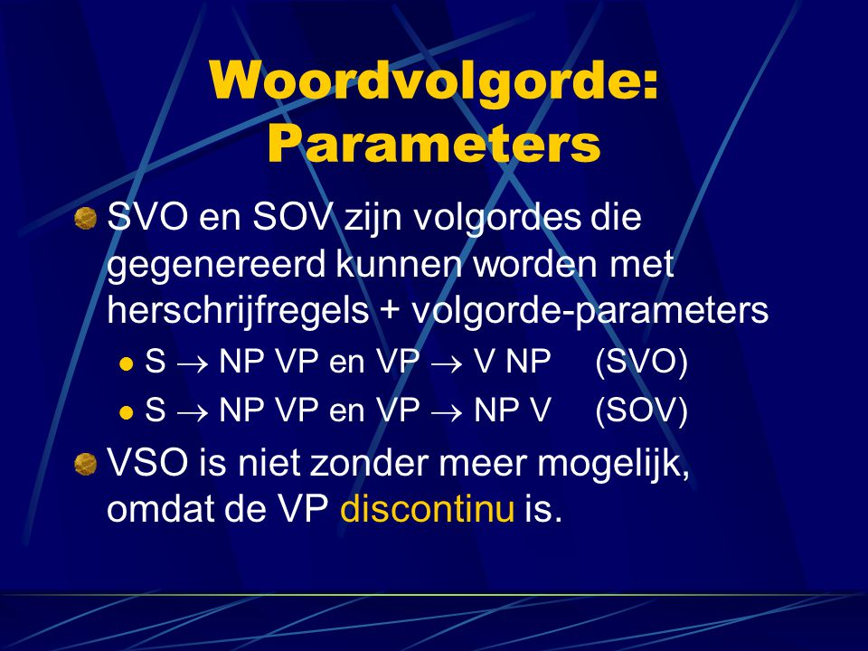 Woordvolgorde: Parameters