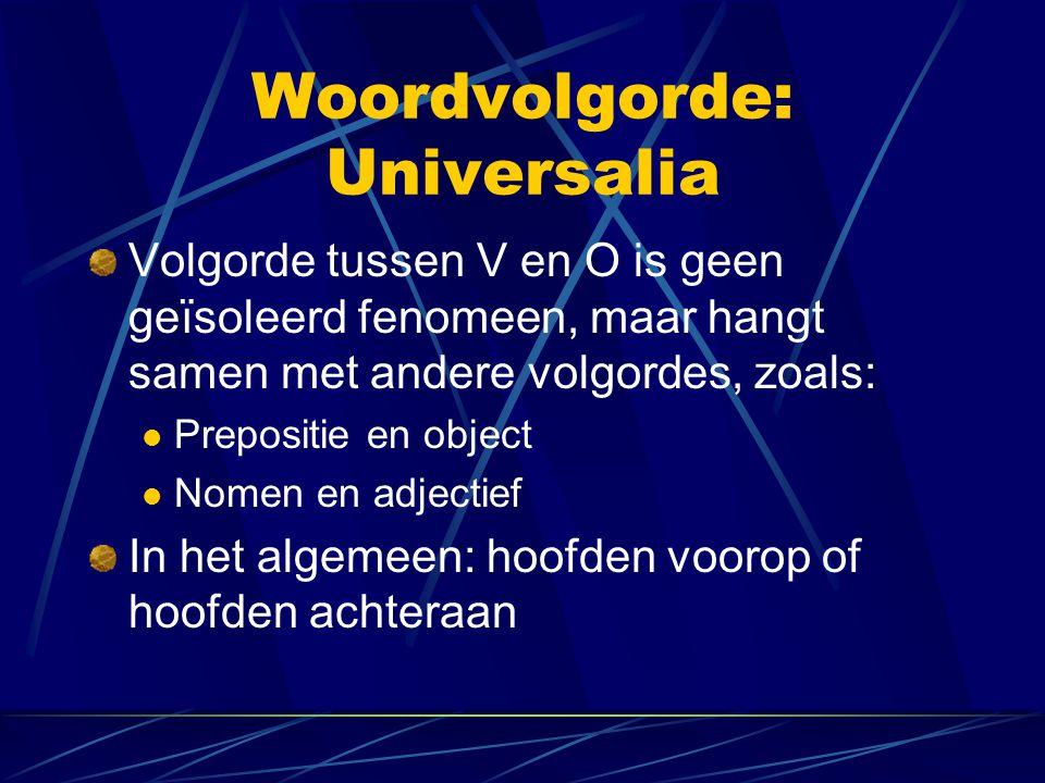 Woordvolgorde: Universalia