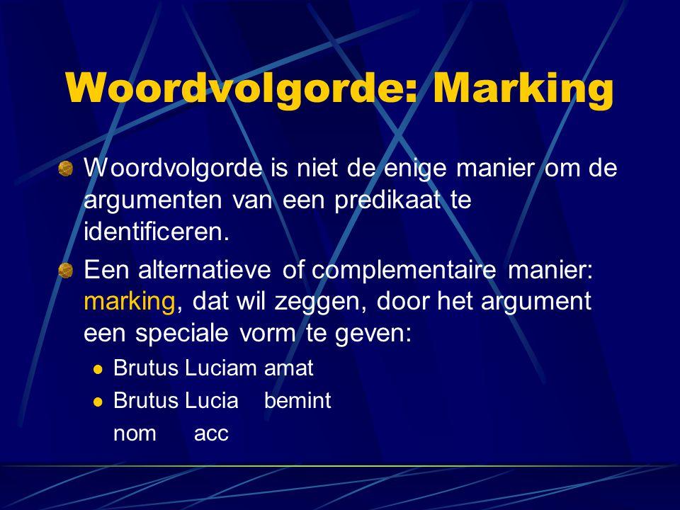 Woordvolgorde: Marking