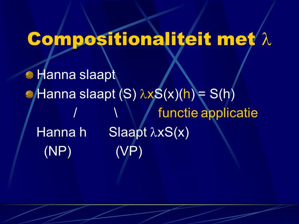 Compositionaliteit met 