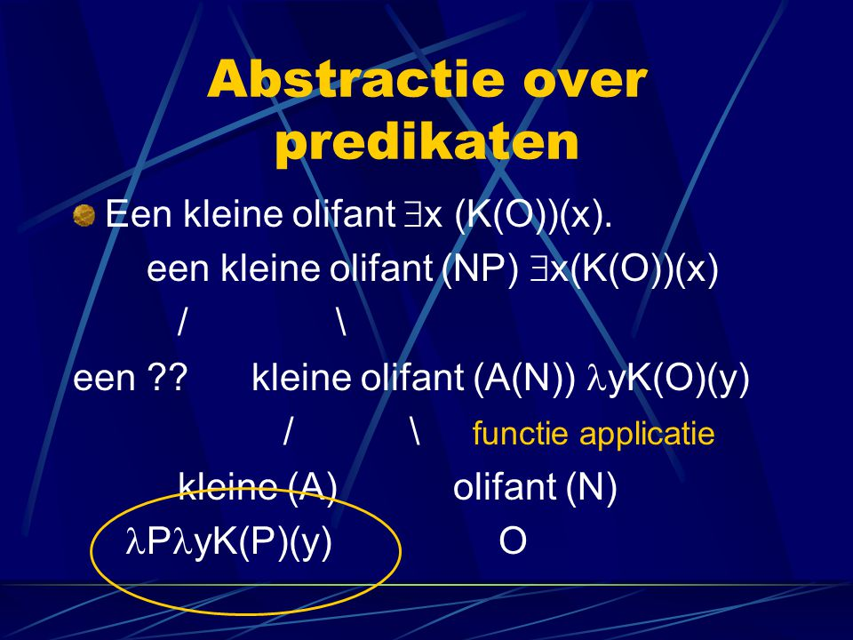 Abstractie over predikaten