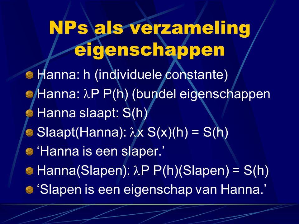 NPs als verzameling eigenschappen
