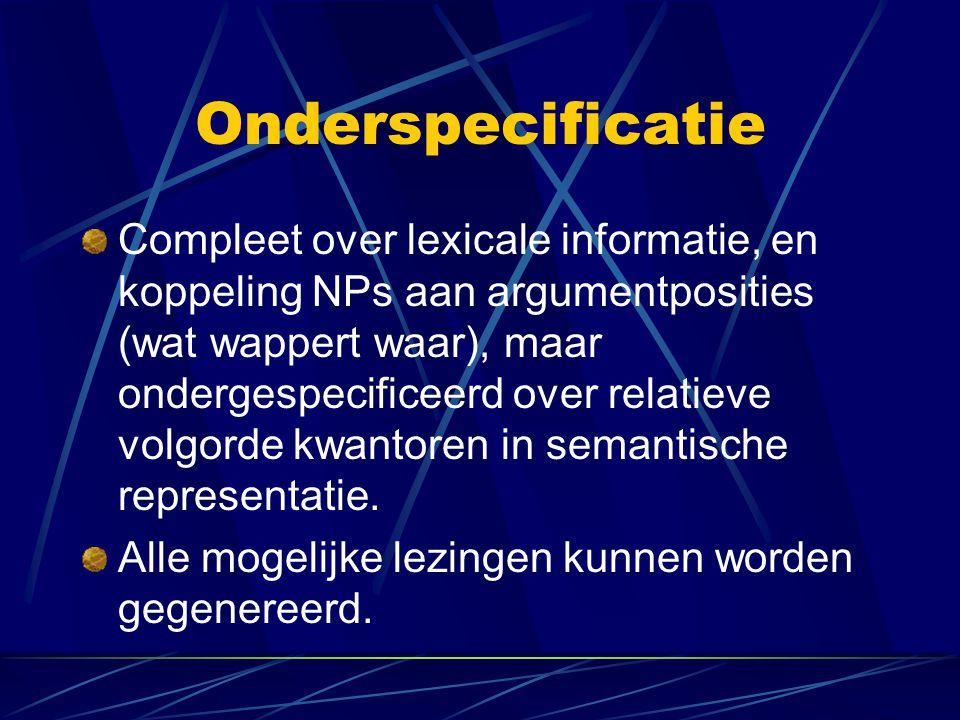 Onderspecificatie