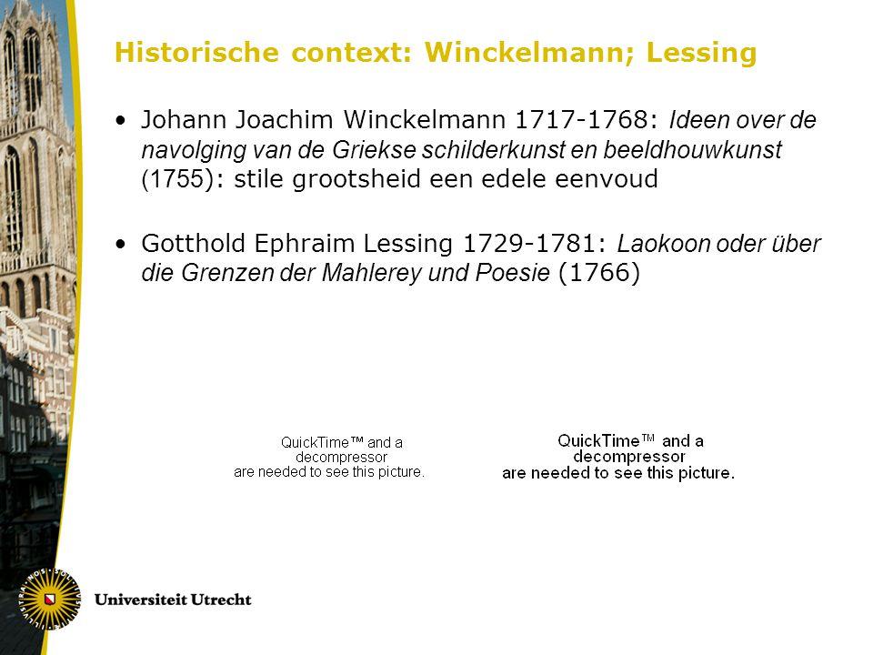Historische context: Winckelmann; Lessing