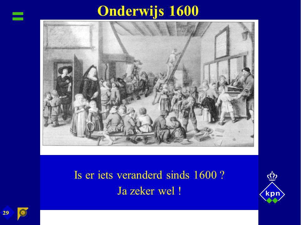 Is er iets veranderd sinds 1600
