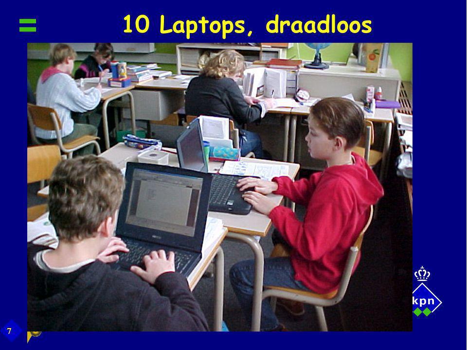 10 Laptops, draadloos