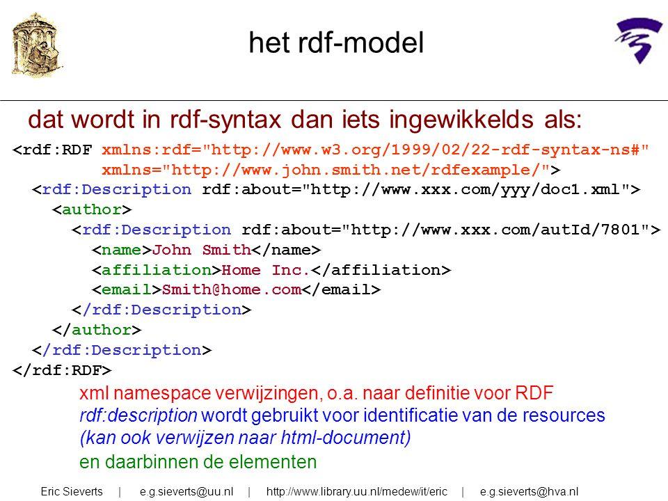 het rdf-model dat wordt in rdf-syntax dan iets ingewikkelds als: