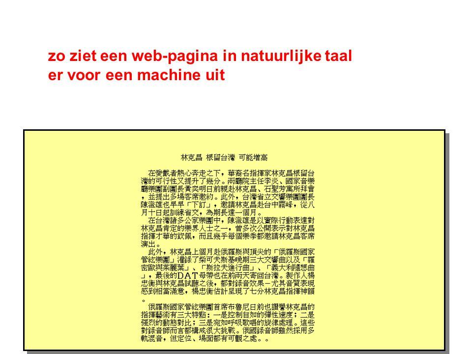 zo ziet een web-pagina in natuurlijke taal