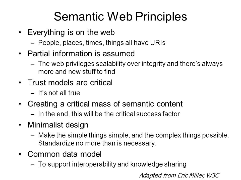 Semantic Web Principles