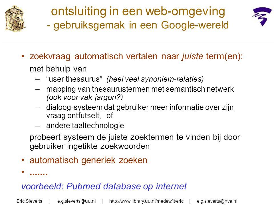 ontsluiting in een web-omgeving - gebruiksgemak in een Google-wereld