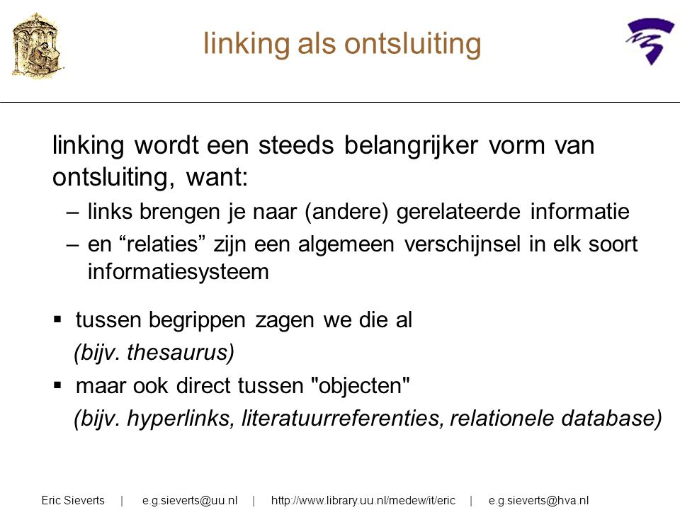 linking als ontsluiting