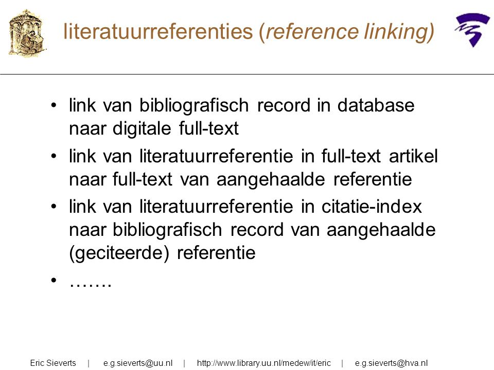 literatuurreferenties (reference linking)