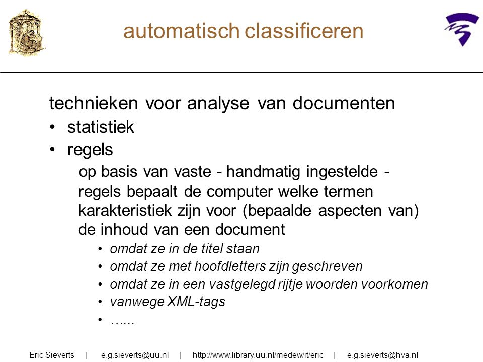 automatisch classificeren