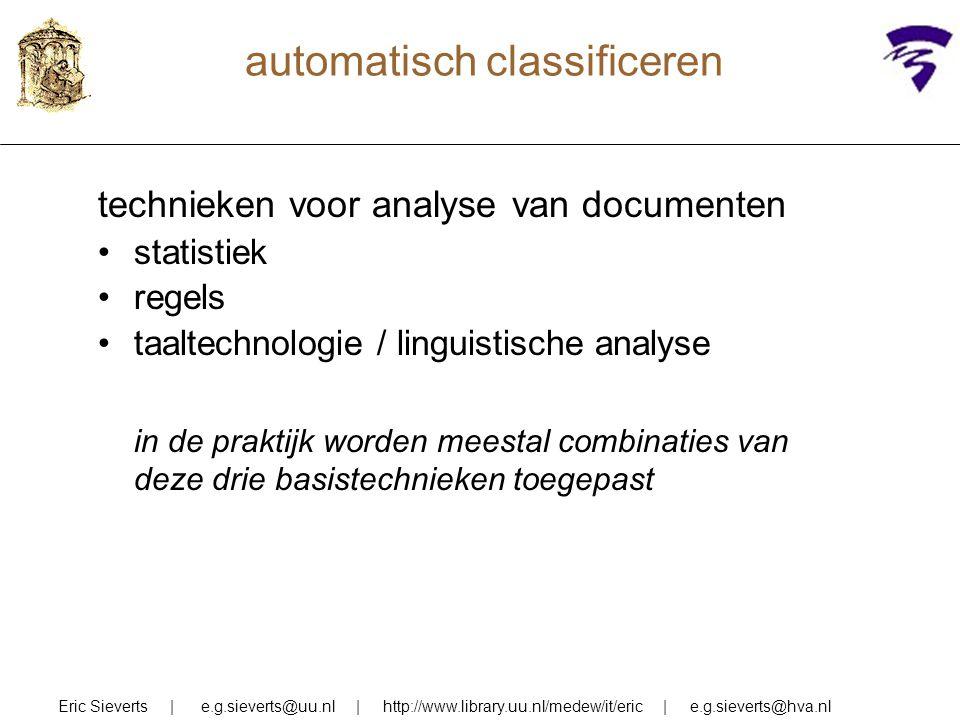 automatisch classificeren