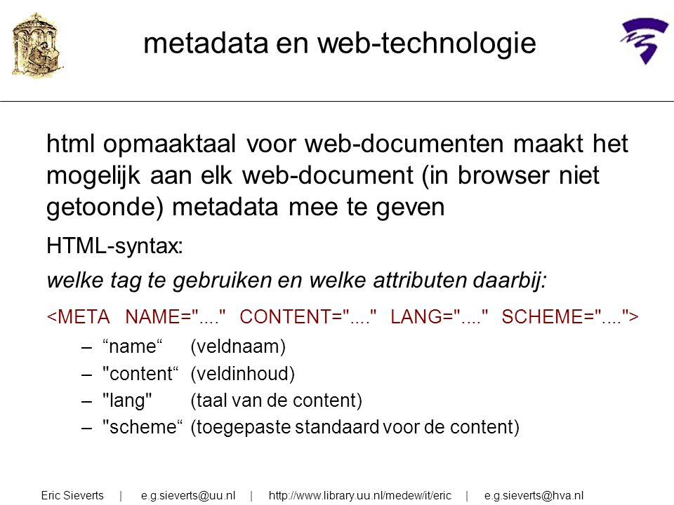 metadata en web-technologie