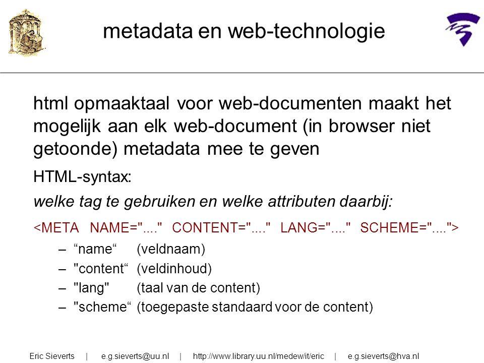 metadata en web-technologie