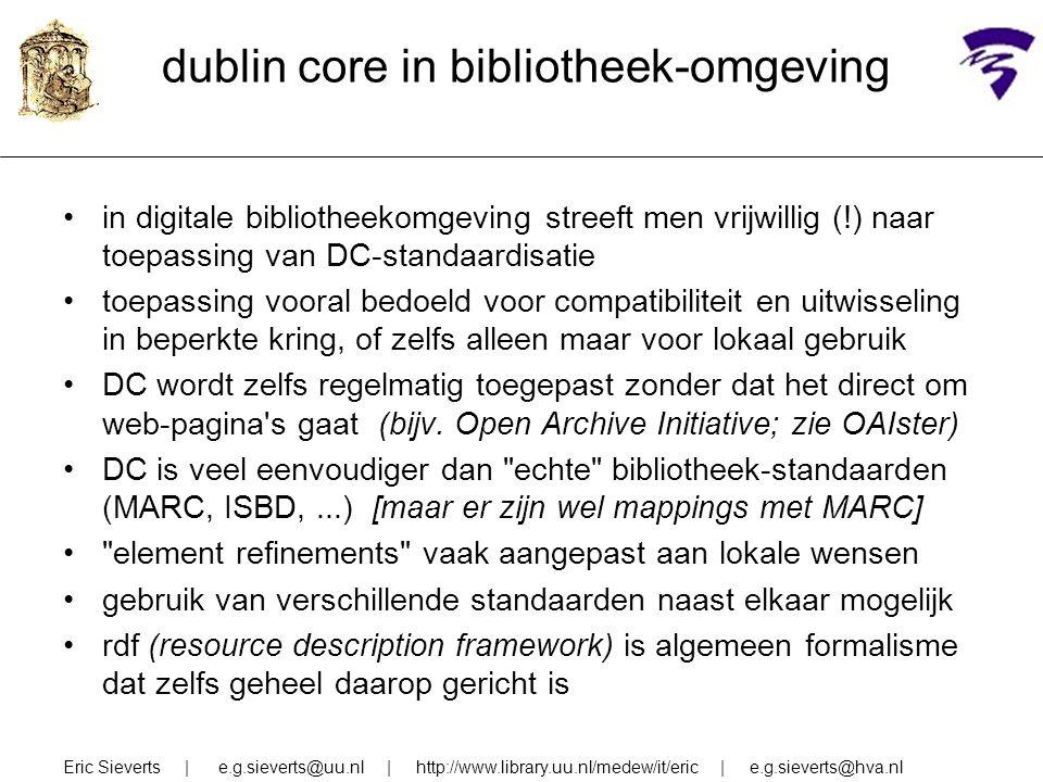 dublin core in bibliotheek-omgeving