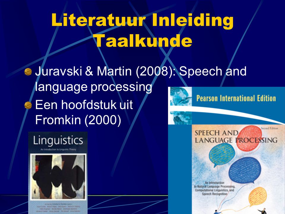 Literatuur Inleiding Taalkunde
