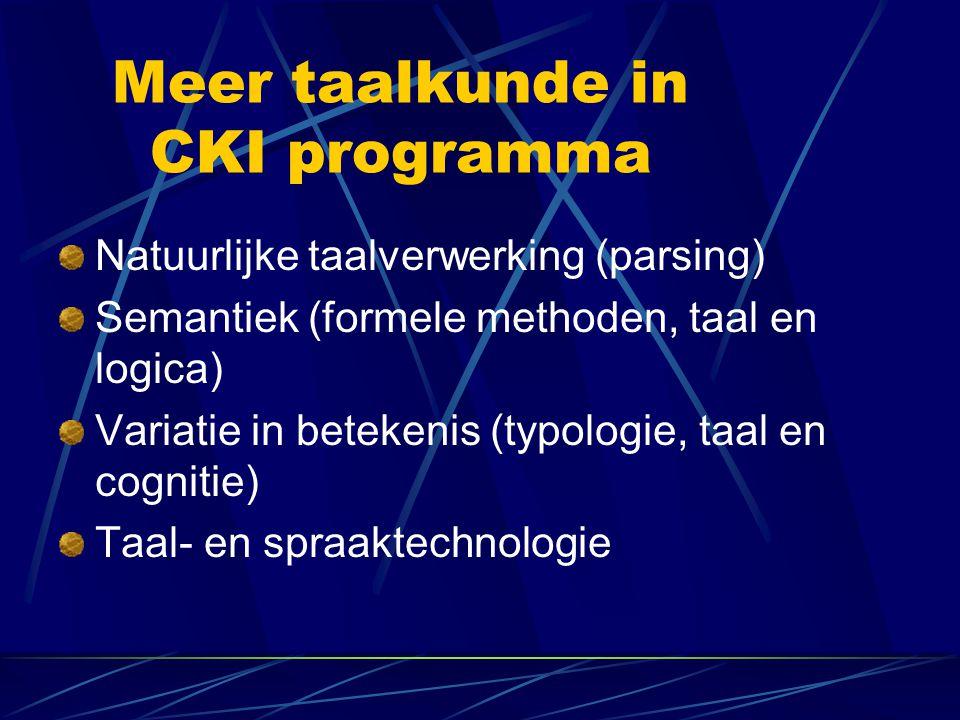 Meer taalkunde in CKI programma