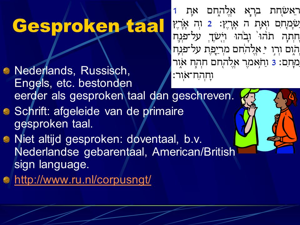 Gesproken taal