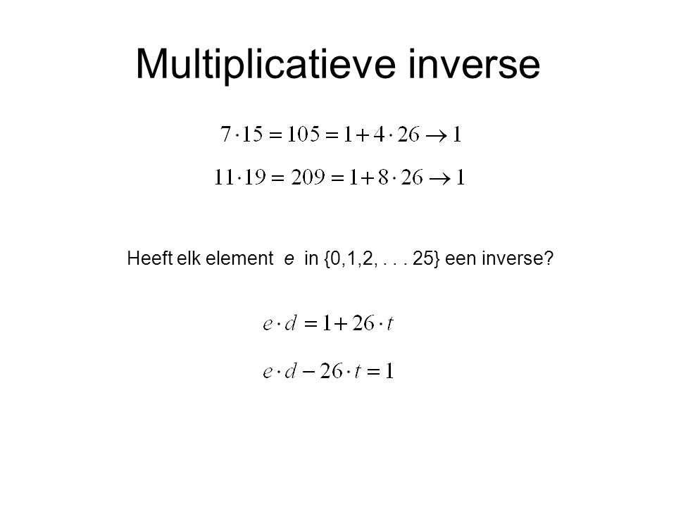 Multiplicatieve inverse