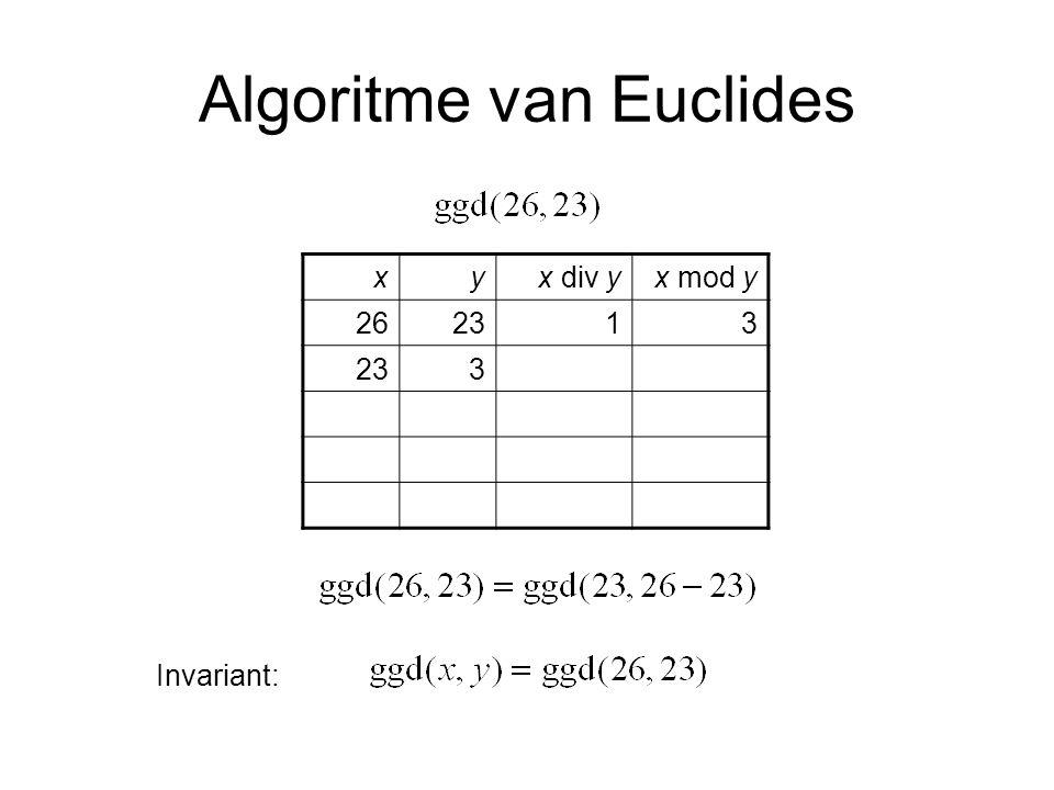 Algoritme van Euclides