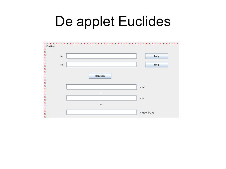 De applet Euclides