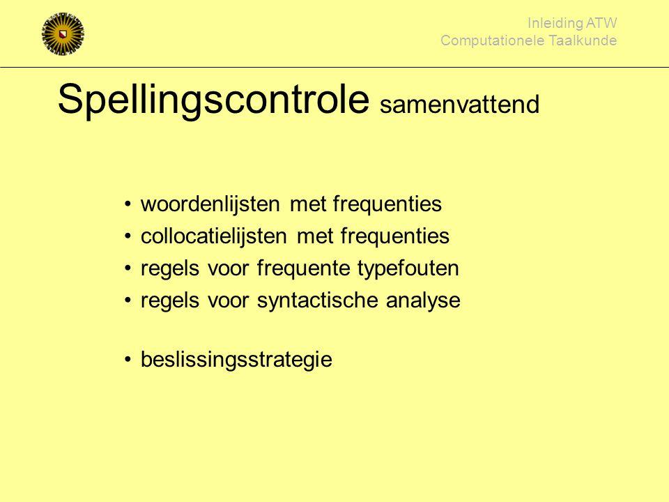 Spellingscontrole samenvattend