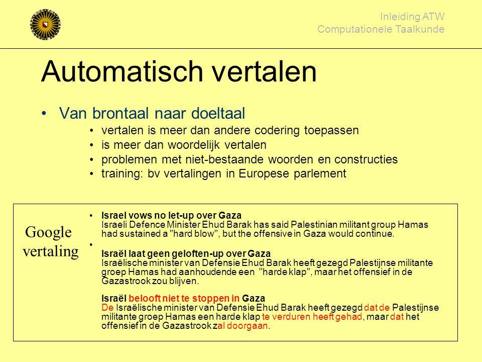 Automatisch vertalen Van brontaal naar doeltaal Google vertaling