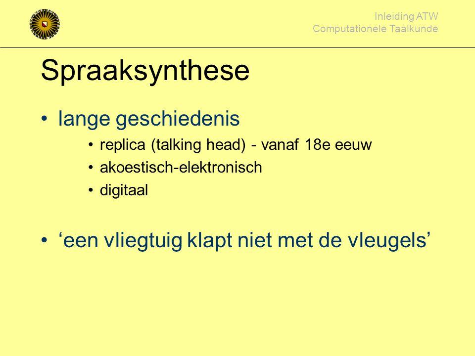 Spraaksynthese lange geschiedenis