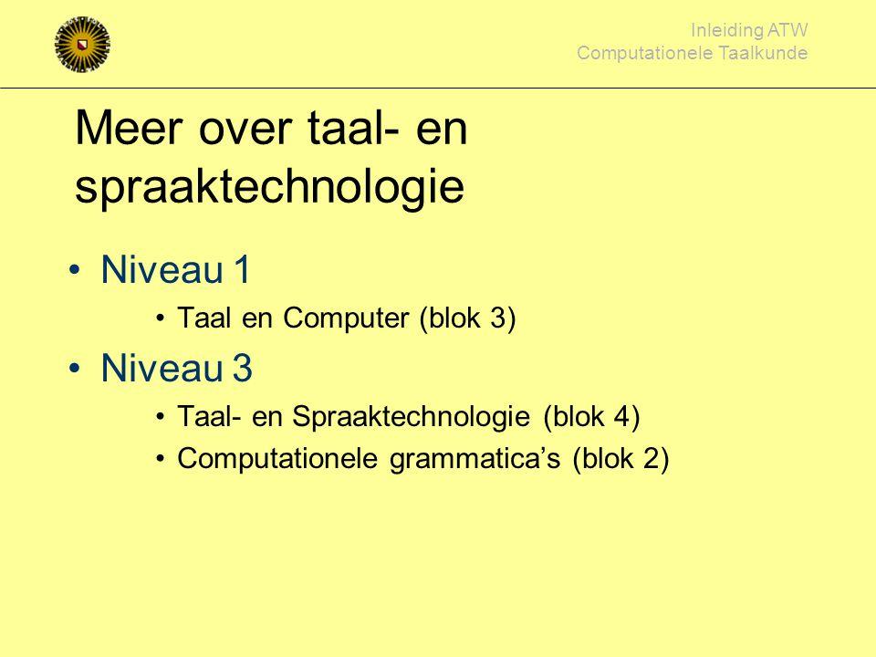 Meer over taal- en spraaktechnologie