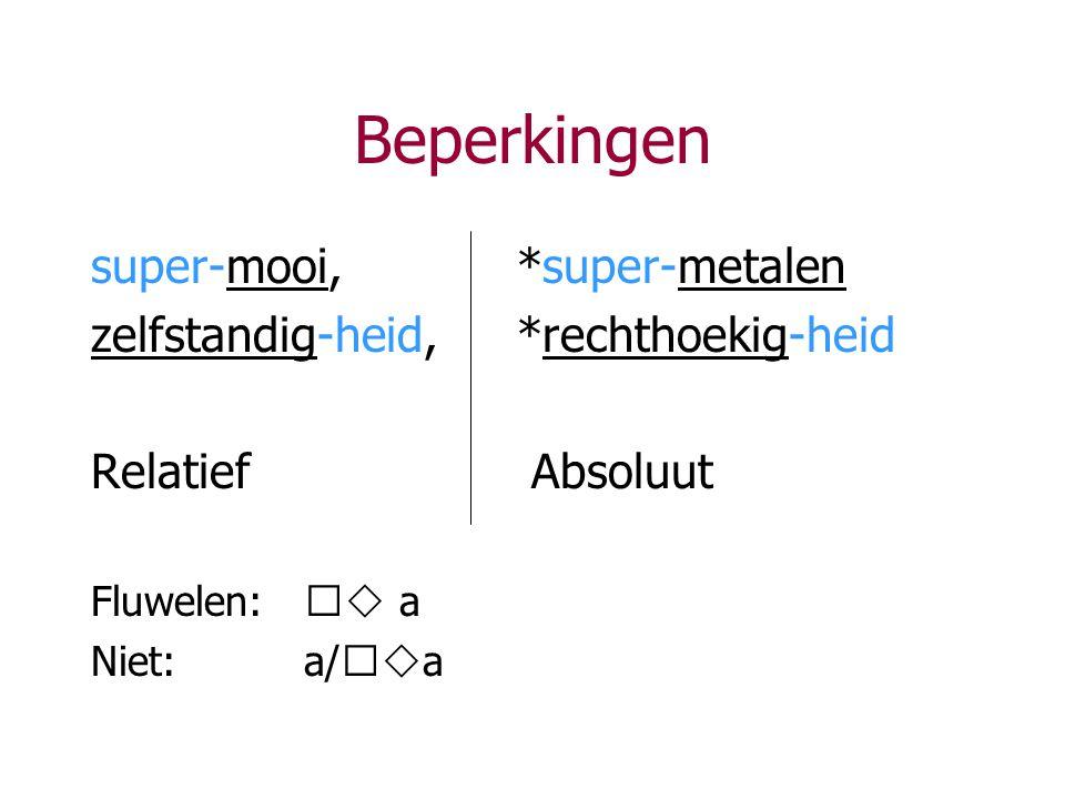 Beperkingen super-mooi, *super-metalen
