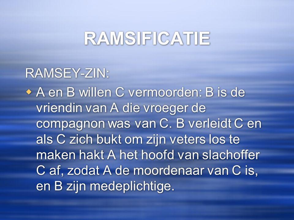 RAMSIFICATIE RAMSEY-ZIN: