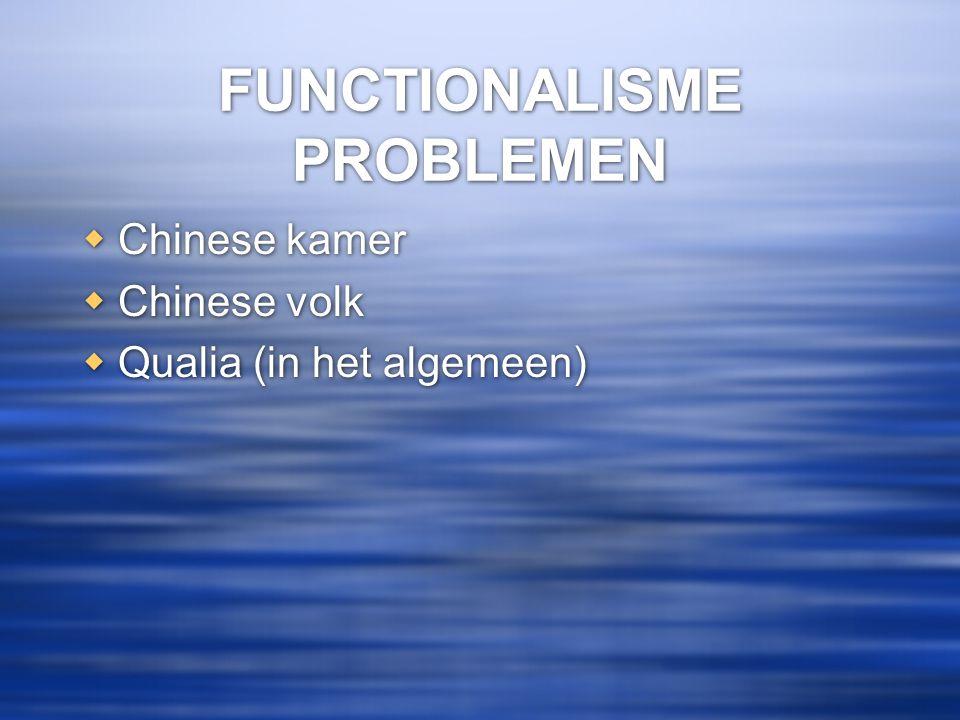 FUNCTIONALISME PROBLEMEN