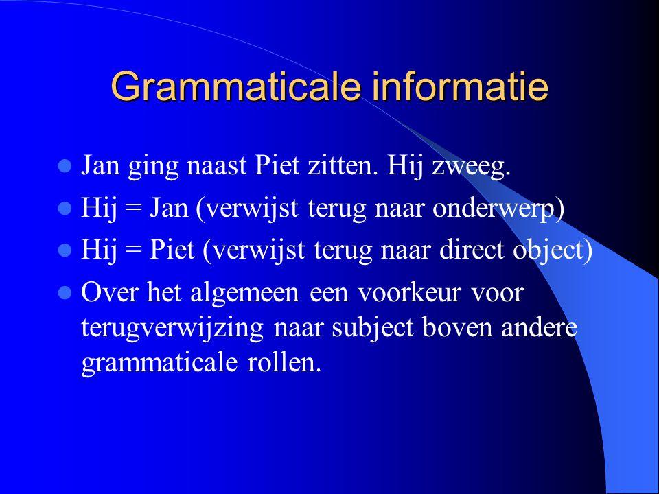 Grammaticale informatie